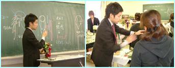 東京テクノ・ホルティ園芸専門学校にてプリザーブドフラワーの特別レッスン
