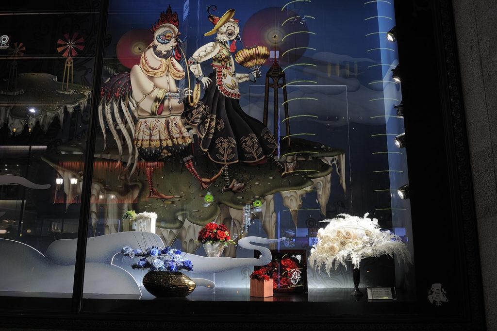 伊勢丹新宿本店クリスマスディスプレイ全体像