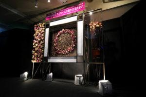 クリスマスローズの世界展のメインディスプレイ